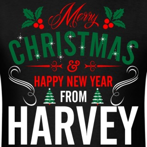 mery_christmas_happy_new_year_from_harve T-Shirts - Men's T-Shirt