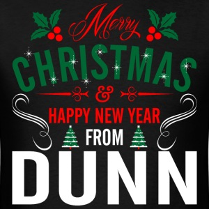 mery_christmas_happy_new_year_from_dunn T-Shirts - Men's T-Shirt