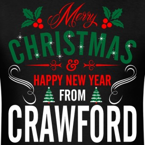 mery_christmas_happy_new_year_from_crawf T-Shirts - Men's T-Shirt
