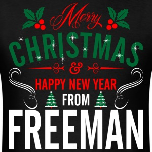 mery_christmas_happy_new_year_from_freem T-Shirts - Men's T-Shirt