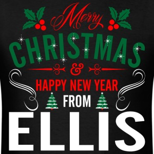 mery_christmas_happy_new_year_from_ellis T-Shirts - Men's T-Shirt
