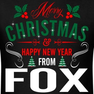 mery_christmas_happy_new_year_from_fox T-Shirts - Men's T-Shirt