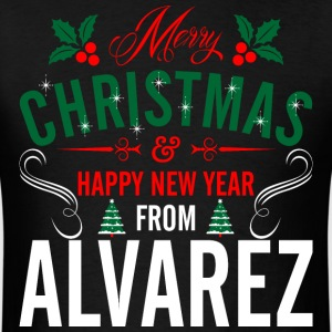 mery_christmas_happy_new_year_from_alvar T-Shirts - Men's T-Shirt