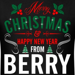 mery_christmas_happy_new_year_from_berry T-Shirts - Men's T-Shirt