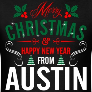 mery_christmas_happy_new_year_from_austi T-Shirts - Men's T-Shirt