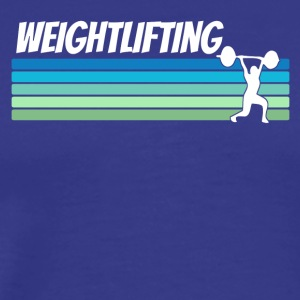 Retro Weightlifting - Men's Premium T-Shirt