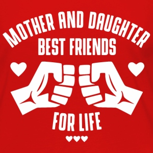 Mother and Daughter best friends for life Long Sleeve Shirts - Women's Premium Long Sleeve T-Shirt