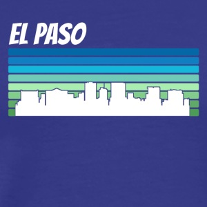 Retro El Paso Skyline - Men's Premium T-Shirt