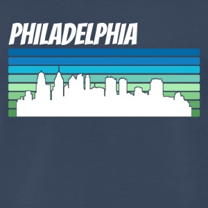 Retro Philadelphia Skyline - Men's Premium T-Shirt