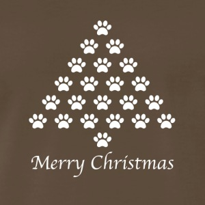 Funny Christmas Dog Cat Paws T-shirt and Hoodies - Men's Premium T-Shirt