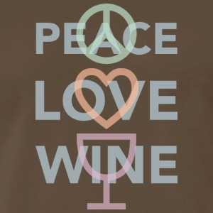 Peace, Love and Wine - Men's Premium T-Shirt