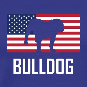 Bulldog American Flag - Men's Premium T-Shirt