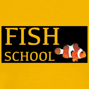 Fish Schoo lLogo - Men's Premium T-Shirt