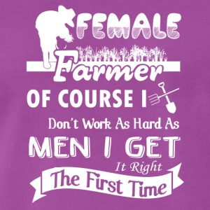 Female Farmer Shirt - Men's Premium T-Shirt