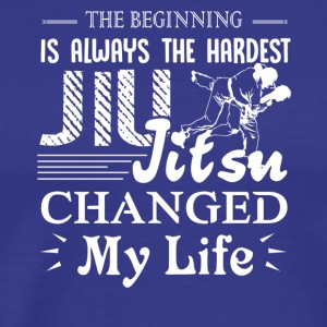 Jiu Jitsu Changed My Life Shirt - Men's Premium T-Shirt