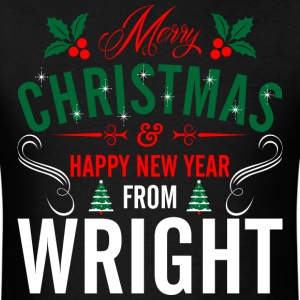 mery_christmas_happy_new_year_from_wrigh T-Shirts - Men's T-Shirt
