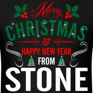 mery_christmas_happy_new_year_from_stone T-Shirts - Men's T-Shirt