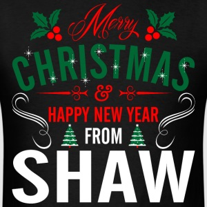 mery_christmas_happy_new_year_from_shaw T-Shirts - Men's T-Shirt