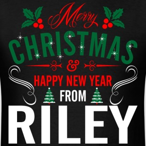 mery_christmas_happy_new_year_from_riley T-Shirts - Men's T-Shirt