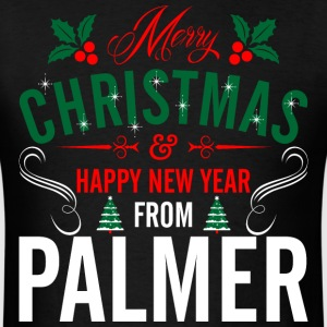 mery_christmas_happy_new_year_from_palme T-Shirts - Men's T-Shirt