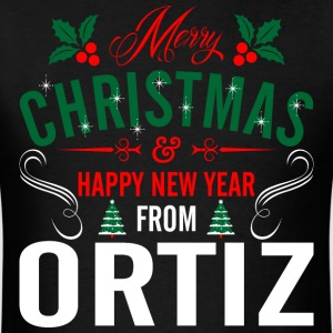 mery_christmas_happy_new_year_from_ortiz T-Shirts - Men's T-Shirt