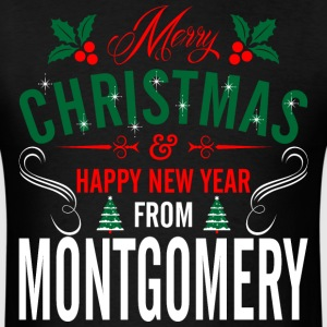 mery_christmas_happy_new_year_from_montg T-Shirts - Men's T-Shirt
