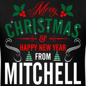 mery_christmas_happy_new_year_from_mitch T-Shirts - Men's T-Shirt