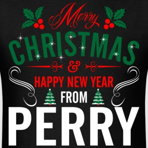 mery_christmas_happy_new_year_from_perry T-Shirts - Men's T-Shirt