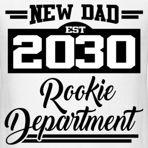 NEW DAD EST 2030 ROOKIE DEPARTMENT,NEW DAD,DAD,203 - Men's T-Shirt