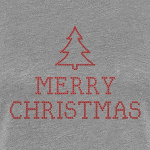 Merry Christmas cross stitch sign T-Shirts - Women's Premium T-Shirt