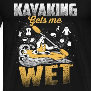 Kayaking - Kayak Sport - Boat Canoe Paddle - Men's Premium T-Shirt