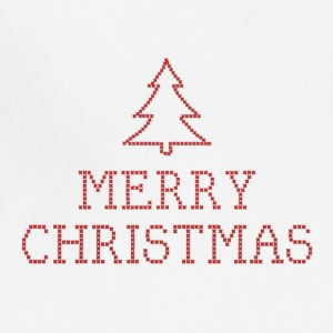 Merry Christmas cross stitch sign Aprons - Adjustable Apron