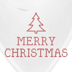 Merry Christmas cross stitch sign Caps - Bandana