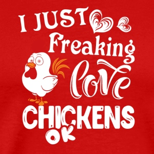 Love Chickens Shirt - Men's Premium T-Shirt
