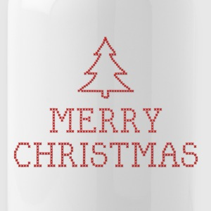 Merry Christmas cross stitch sign Sportswear - Water Bottle
