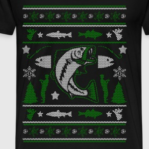 Christmas sweater for fisherman - Merry Fishmas - Men's Premium T-Shirt