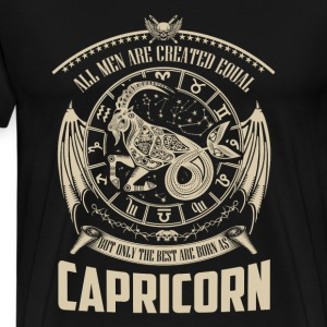 Capricorn the best - All men are created equal - Men's Premium T-Shirt