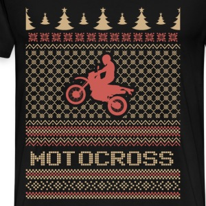 Motocross ugly Christmas sweater - Men's Premium T-Shirt