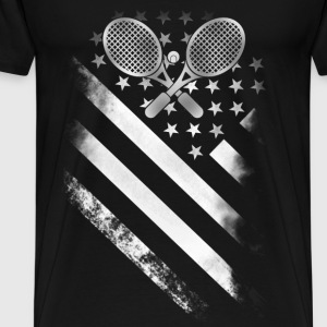 Tennis player - Tennis American flag - Men's Premium T-Shirt