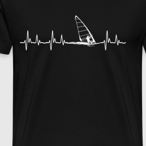 Wind surfing - It is in my hearbeat - Men's Premium T-Shirt