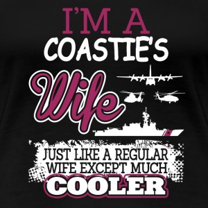 Coastie's wife - Like others except much cooler - Women's Premium T-Shirt