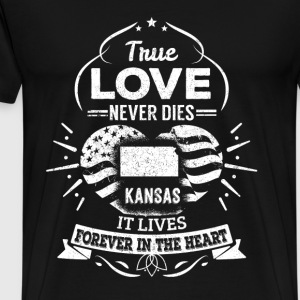 Kansas - Kansas lives forever in the heart - Men's Premium T-Shirt
