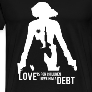 Black widow - Love is for children awesome tee - Men's Premium T-Shirt
