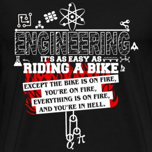 Engineering - It's as easy as riding a bike tee - Men's Premium T-Shirt
