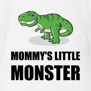Mommy's Little Monster - Short Sleeve Baby Bodysuit