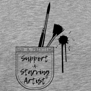 Support a Starving artist (2) - Men's Premium T-Shirt