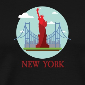 New York City NYC Manhattan Tourist Souvenir - Men's Premium T-Shirt