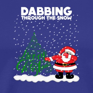Cute Funny Dabbing Through the Snow - Men's Premium T-Shirt