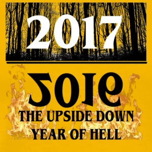 2017- 2016 Upside Down Year Of Hell - Men's Premium T-Shirt