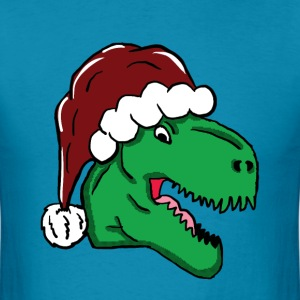 Santa Hat T-Rex - Men's T-Shirt